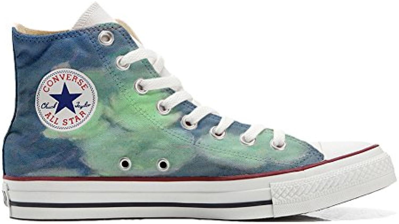 Converse All Star Customized - Zapatos Personalizados (Producto Artesano) Fiori Bianchi  -