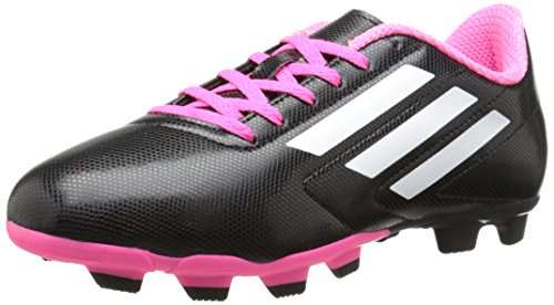 Adidas Conquisto FG J Synthétique Baskets Core Black - Running White Ftw - Solar Pink