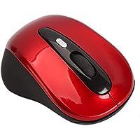ماوس ضوئي لاسلكي متوافق مع اجهزة البي سي و اللابتوب - لون احمر