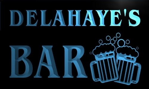 w096137-b-delahaye-name-home-bar-pub-beer-mugs-cheers-neon-light-sign