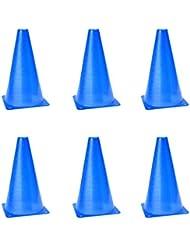 honeysuck multifunción cono de seguridad para fútbol fútbol práctica (azul)