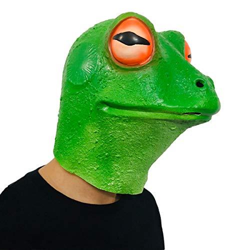 Finalshow Frosch Maske Halloween Kostüm Latex Tier Den Kopf Voll Latex Maske für Party Kostüm Spielen Erwachsene Kinder