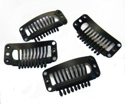 Generic Lot de 20 clips pour extensions capillaires et perruques à poser soi-même 30 mm Noir