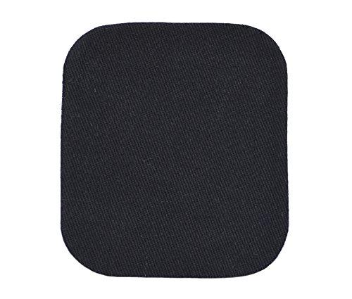 Jeansflicken Bügelflicken Jeans-Aufbügler Stoffflicken schwarz Maße: ca. 10,5 x 9,5 cm -