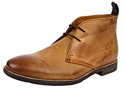 Clarks Mens Novato Mid Tan Boots - 10 UK