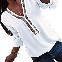 tolle Passform heiß-verkaufende Mode beste Auswahl von 2019 Suchergebnis auf Amazon.de für: Weiße Bluse mit Pailletten