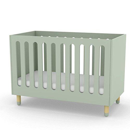 Alfred Compagnie & cama con somier flexible 60 x 120 cm, color verde menta