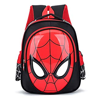 YHNUJMIK Mochila 3D 3-7 años Mochilas Escolares para niños Mochilas Impermeables Kid Spiderman Book Bag Bolso de Hombro para niños Satchel