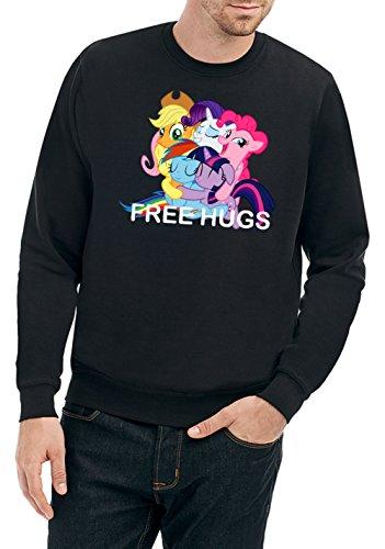Free Hugs Pony Sweater Nero Certified Freak-XL