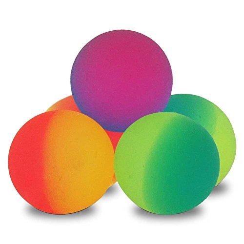 50 x Flummi Neon Hüpfball Springball Flummis 27mm