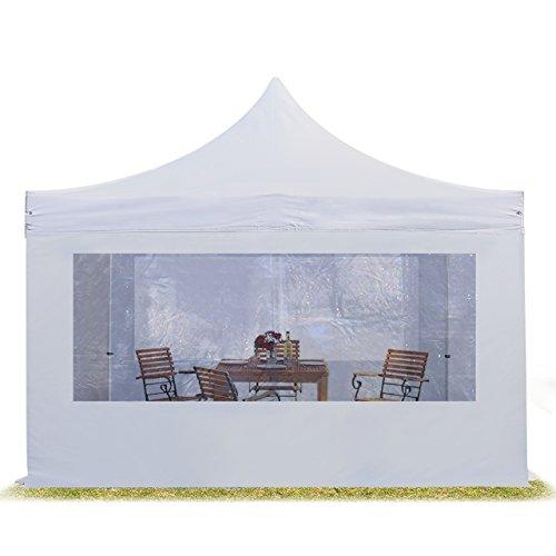 TOOLPORT Faltzelt Professional 4x4 m mit Panoramafenster Faltpavillon ALU Pavillon Partyzelt in weiß