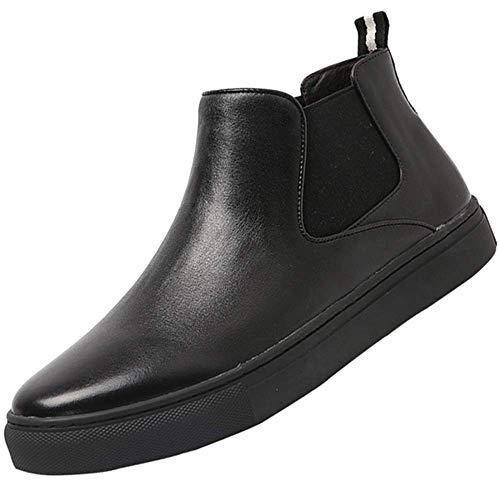 6f63bad9da3 FuweiEncore Botas Chelsea para Hombre Primavera Verano Invierno Moda Zapatos  de Cuero Vintage (Color :