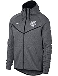 Nike 2018-2019 England Authentic Tech Fleece Windrunner Jacket (Carbon)
