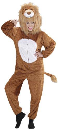Widmann 9938B - Erwachsenenkostüm Löwe, Overall mit Maske, Größe - Lion Fancy Dress Kostüm