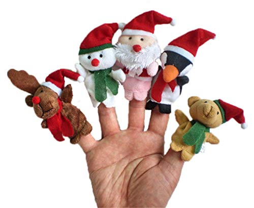 Aofocy 5pcs Christmas Finger Puppets Set Children