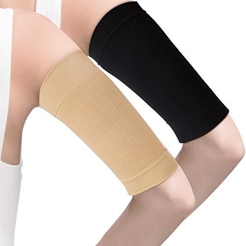 4 Paare Abnehmen Arm Ärmel Arm Elastische Kompression Arm Shaper Sport Fitness Arm Shaper für Damen Mädchen Gewichtsverlust (Mangel und Nackte Farbe)