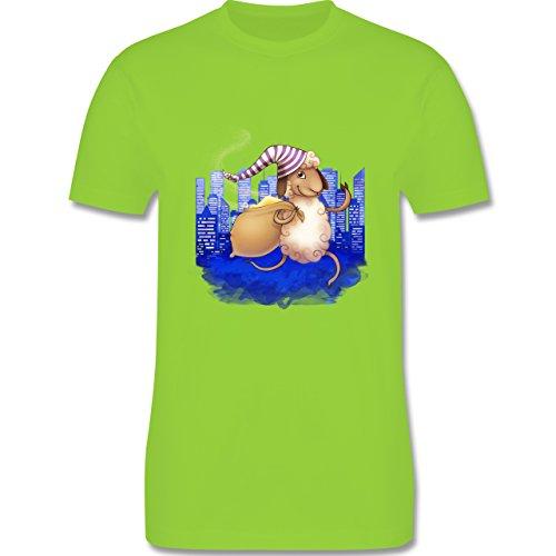 Sonstige Tiere - Schlafi Schaf - Herren Premium T-Shirt Hellgrün