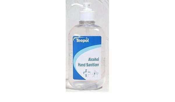Teepol Alcohol Hand Sanitizer 500ml Dispenser Bottle Amazon Co Uk