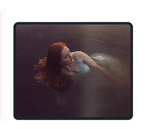 Mauspad mit Blauem Schmetterlingsmotiv, 23,9 x 30 cm, Beautiful Fish Woman, Einheitsgröße -