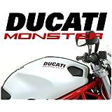 Pegatinas para tanque de moto DUCATI Monster; bicolor (3unidades)