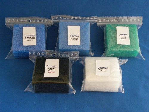 Replacement Set of Filters and Pads for Juwel Compact / Bioflow 3.0 1