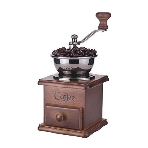 Firlar Manuelle Kaffeemühle Maschine Moledor Kaffeemühle Manuelle Kaffeemühle Antike Handbohnenmühle Holzmaschine Kaffeemaschine für Haus Küche Büro Cafe Cafeteria (Antike Manuelle Kaffeemühle)