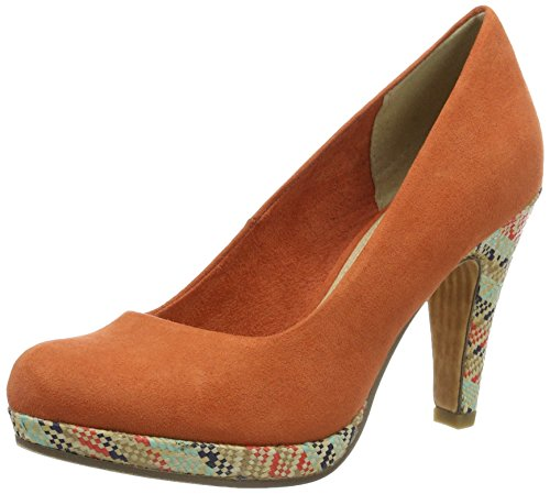 Marco Tozzi Damen 22416 Pumps, Orange (Orange 606), 38 EU