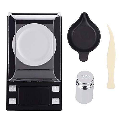yuyte 0.001g Tragbare Mini Hochpräzise Schmuck Gewicht Elektronische Digitalwaage Gramm mit Etui, Pinzette, Waagschale, Taschenformat(02) Waagschale