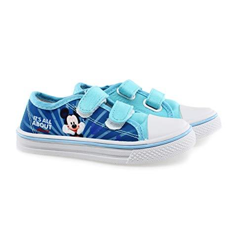 Mickey Mouse - Zapatillas de Deporte de Sintético Niños, Azul (Azul