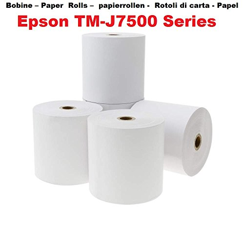 10 blanco papel offset carretes 76 x 70 x 12 mm no