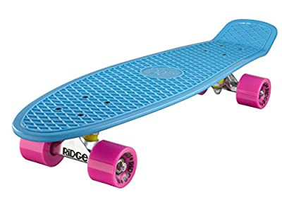 Ridge Skateboard Big Brother Nickel 69 cm Mini Cruiser, blau/rosa
