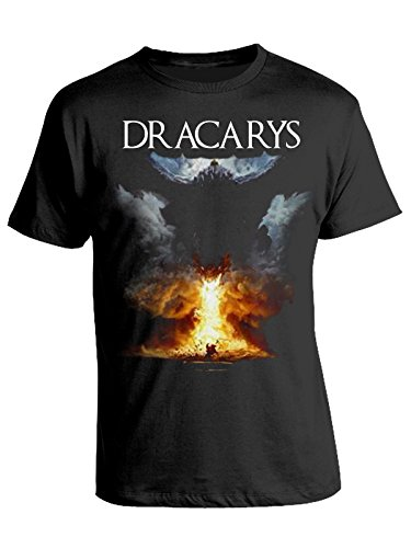 Tshirt game of thrones - dracarys - fire - fuoco - drago - dragon - il trono di spade - serie tv - got7 - in cotone