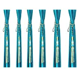 Home Desirica Set Of 6 Pcs Beautiful Curtain Tie Backs (Tassels)