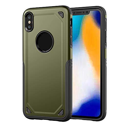 QINPIN Robuste Schutzhülle für Hybrid-Hard Case für iPhone XS Max 6.5inch/XS 5.8 inch/XR 6.1inch