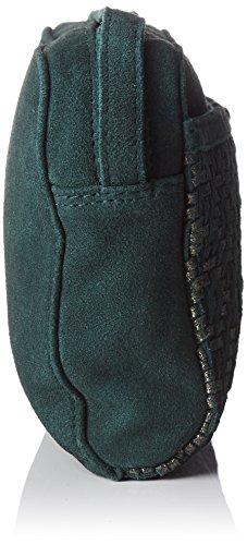 Petite Mendigote Camden, Borsa a Tracolla Donna, 5x14x18.5 cm (W x H x L) Verde (Duck)