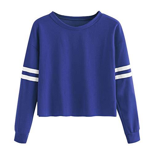 Dorical Sweatshirt Pullover Damen Winter Rosa Lang Pullover Klassischer Gestreift Pullover Dünne Stylische Hochwertige Pullover Schicke mit Weihnachtsmotiven