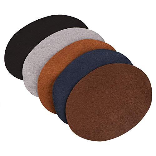 Patch-leder Tasche (Reparatur-Patches Packung mit 10 sortierte Farbe Oval PU Leder Patch Reparatur Nähen Elbow Knie Patches Kleidung Zubehör)
