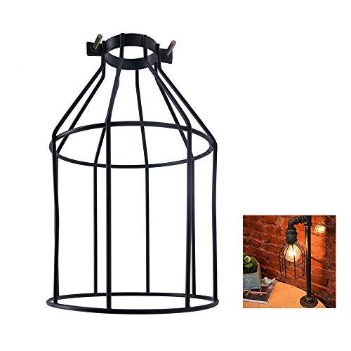 Donpow Protector de lámpara, pantalla rústica industrial de estilo ...