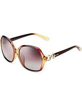 Gafas de sol polarizadas de las señoras/Gafas de sol marco cara de UV/Doble bucle degradado las gafas de sol