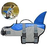COVVY Chaleco Salvavidas para Perro Chaleco de Seguridad Ajustable Salvavidas Chaleco Flotador para Mascota arnés de natación Perro Chaleco Salvavidas (M, Azul)
