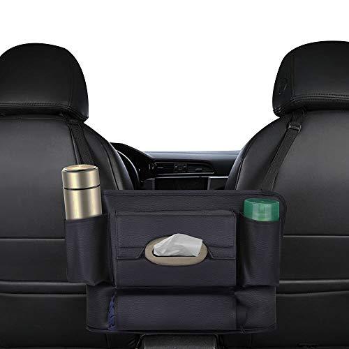 Mystery Auto Organizer,Auto Rückenlehnenschutz Multifunktionen Rücksitztasche für Baby Kinder Spielzeug Tissue-Box, passend für die meisten den Autositz, Schwarz