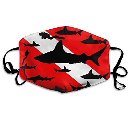 WBinHua Masken für Erwachsene, Mask Face, Mouth Mask, Breathable Mask Anti Dust, Shark Divers Scuba Anti Dust Face Mouth Cover Mask Activated Carbon Breath Healthy Safety Warm Windproof Mask