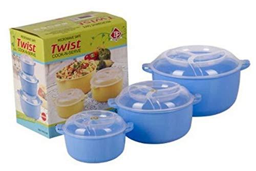 RIYA Products SERVE FRESH 3 pcs set Food Grade Storage Boxes Container Microwave, Freezer & Dishwasher Safe Model 188662