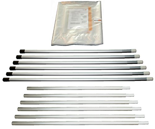 easyTEC Staubschutzwand Set 6000/360, BxH: 6,00m x 3,60m, Folienwand inkl. Teleskopstangen und Vorhangtür