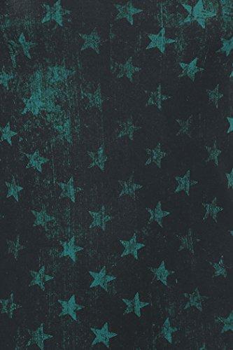 R.E.D. by EMP Stars Allover Doppelpack Girl-Top grün/schwarz Grün/Schwarz
