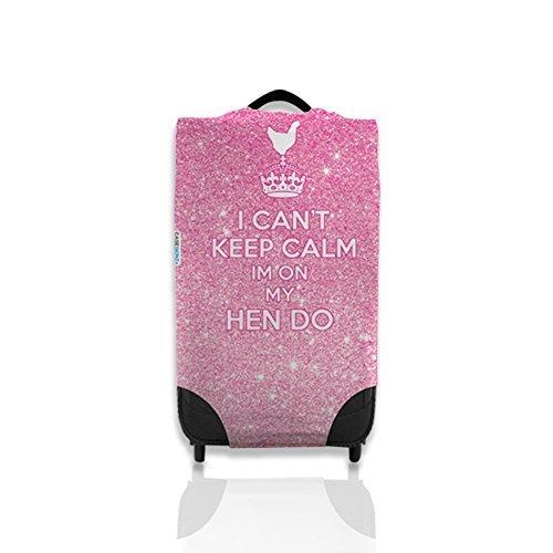 I Can't Keep Calm I Am On My tun Henne design-koffer-deckel ihrem Fall leicht zu erkennen auf dem Karussell Koffer nicht Inbegriffen, mittelgroß