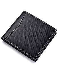 89dd8cfe3 QVIVI Billetera para Hombre con Money Clip RFID Blocking Wallet Tarjeta  Minimalista La Billetera Tiene Capacidad