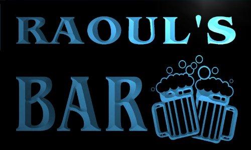 w140463-b-raoul-name-home-bar-pub-beer-mugs-cheers-neon-light-sign