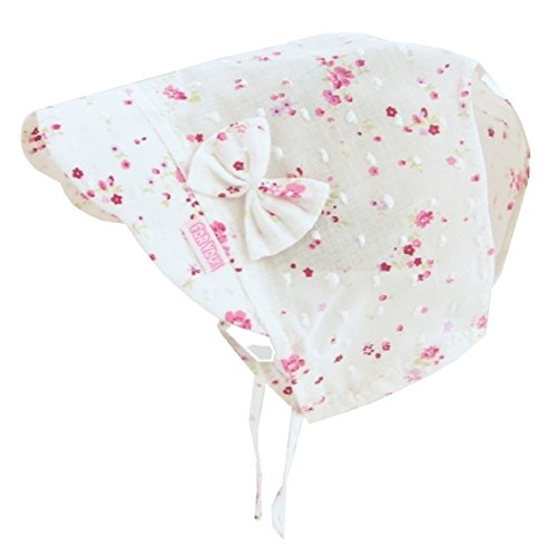 For you Baby Mütze Sommer Hut Cape Neugeborene Frühchen für Mädchen in Weiß mit Blumchen 100{e08cad3b2098eed565792b0bcdae93d817f82c1bd2b7de8b852449492c2b65e8} Baumwolle (38)