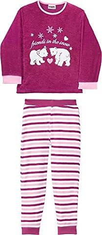 Kinderbutt Schlafanzug Frottee malve Größe 98 / 104